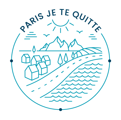 "Le logo du site internet ""Paris Je te quitte"""