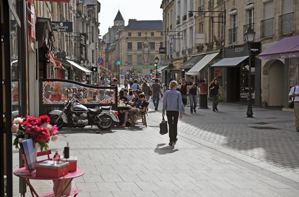 Le centre-ville de Caen