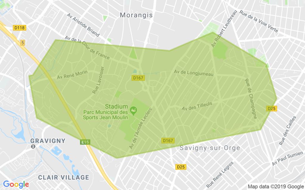 Carte Morangis - Gravigny - Savigny sur Orge