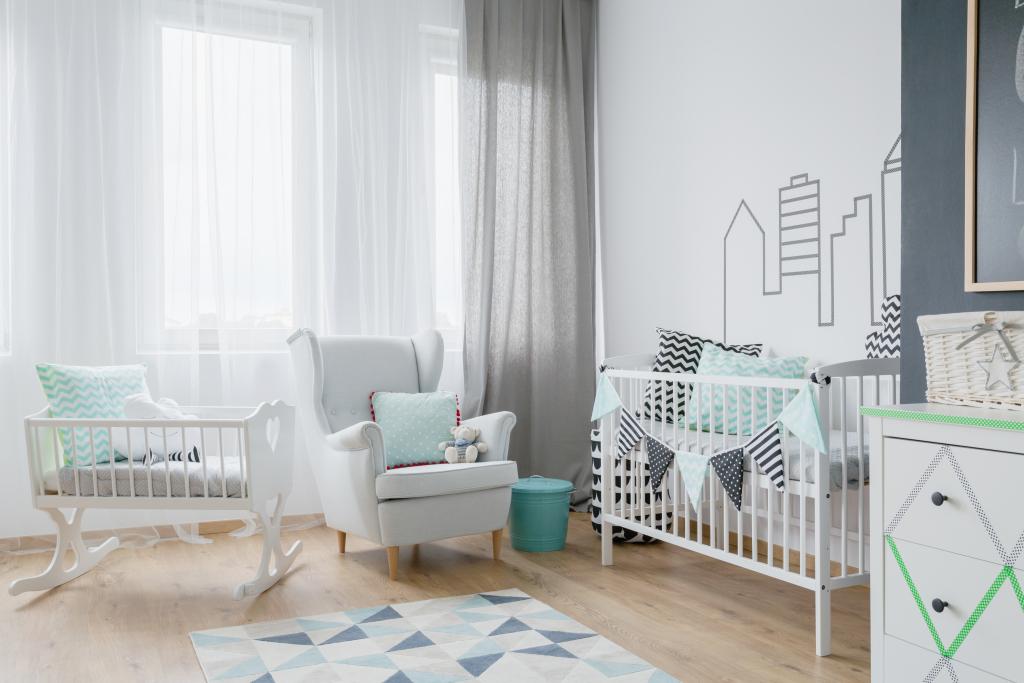 chambre bébé lumineuse couleurs pastel
