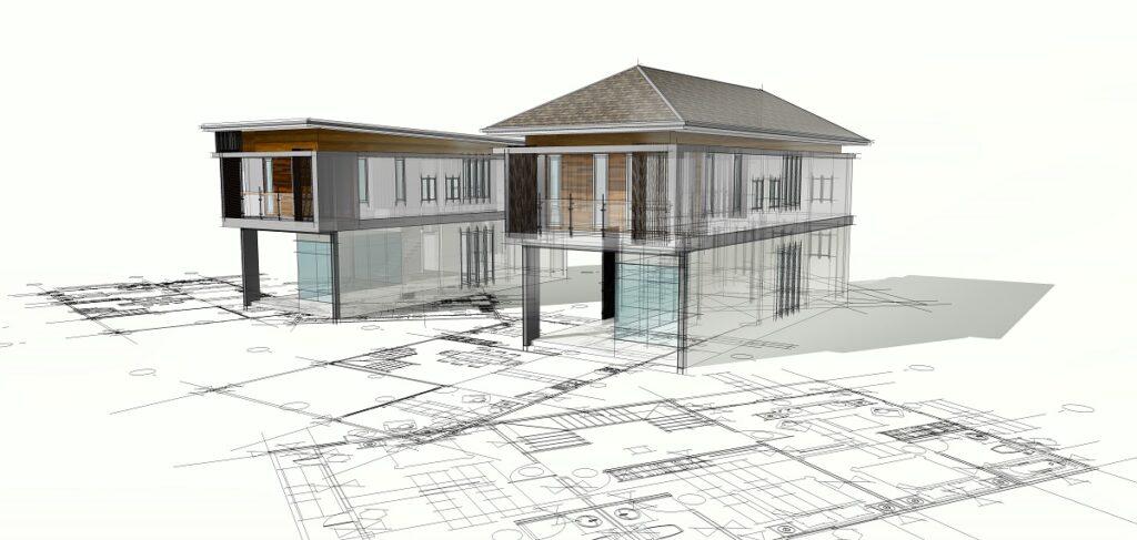 maison modélisée en 3D