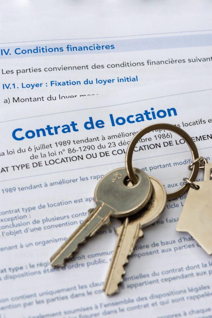 Clefs sur contrat de location immobilière