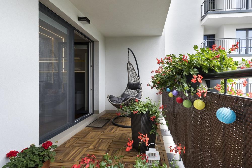 Appartement avec balcon aménagé