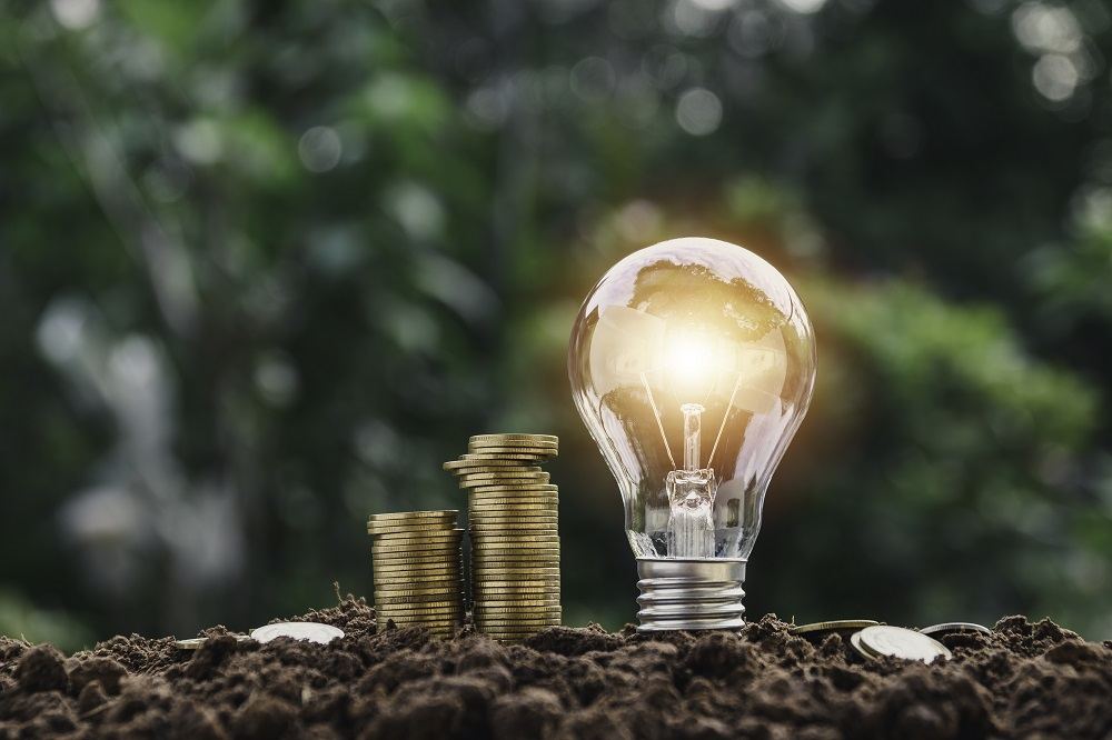 Ampoule et pile de monnaie : dépenses énergétiques